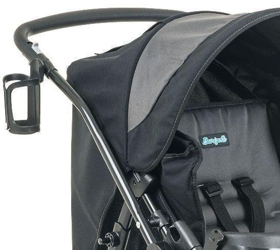 Carrinho de Bebê Burigotto At6 K Reversível Preto e Cinza IXCA2055PR09