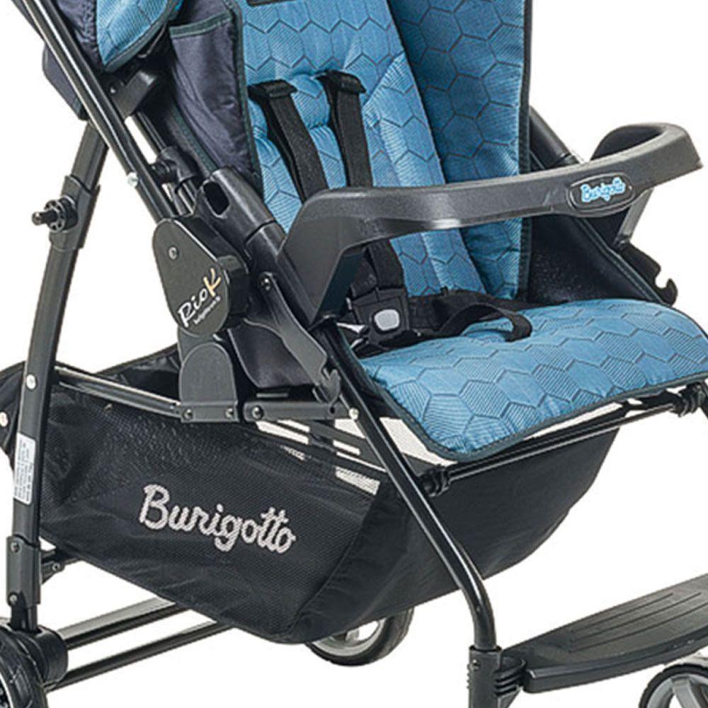 Carrinho de Bebê Burigotto Rio K Reversível Azul IXCA2056PR55