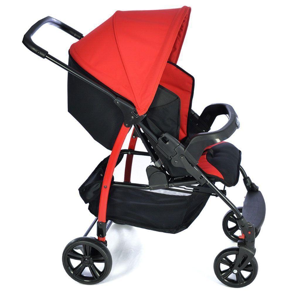Carrinho de Bebê Ecco Red 0 até 15Kg Burigotto IXCA2057PR03