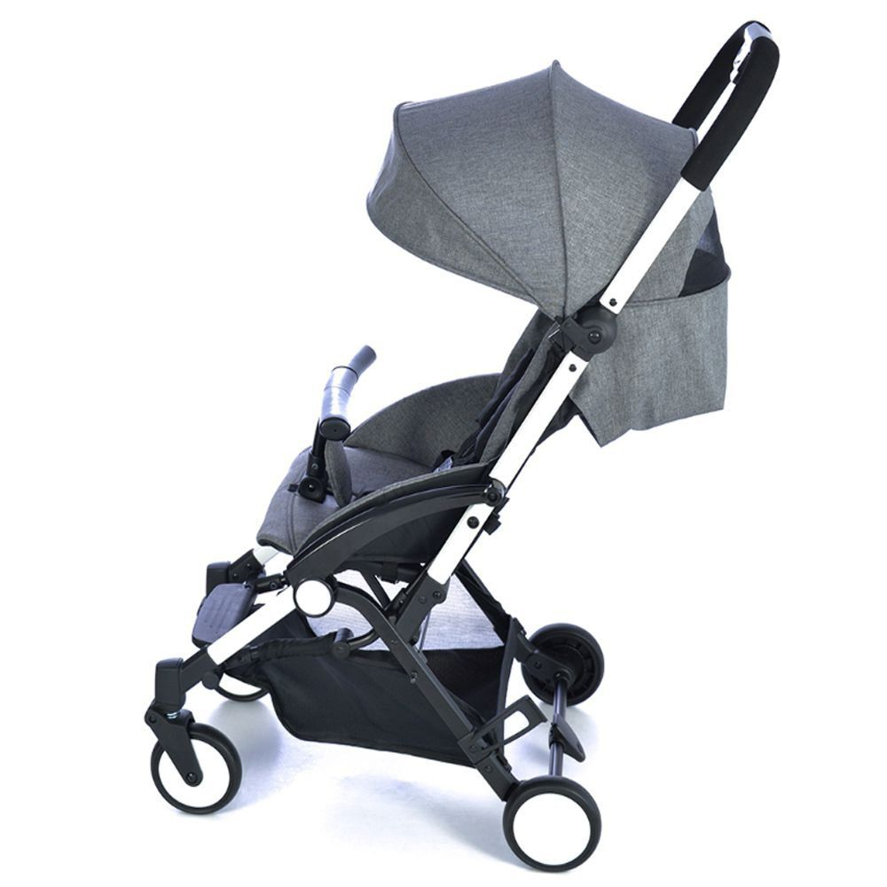 Carrinho de Bebê Passeio Reclinavel 0 Até 15Kg Compacto UP Gray Burigotto
