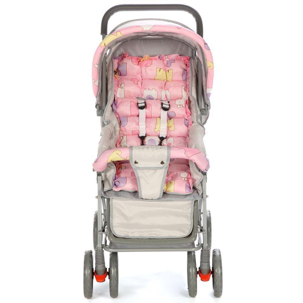 Carrinho Funny Voyage Rosa Para Crianças de até 15 Kg