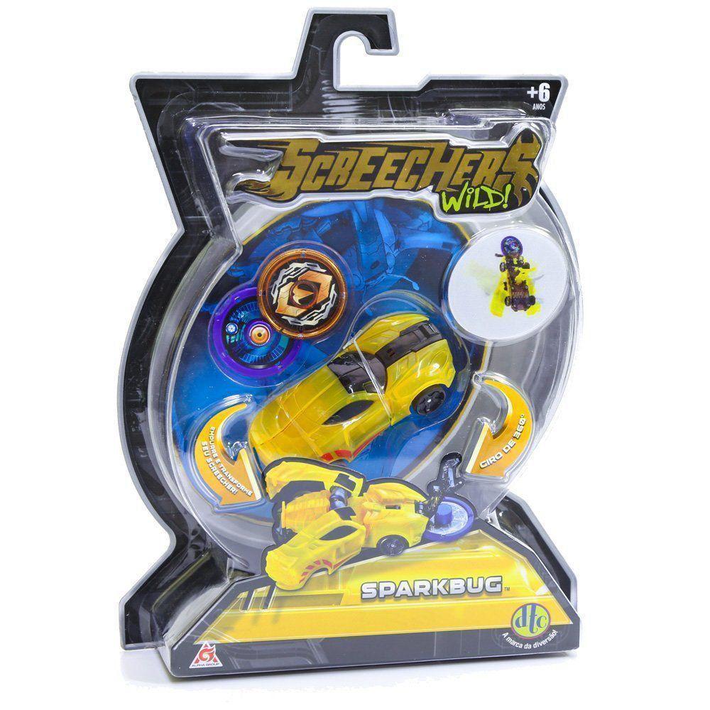 Carrinho Screechers Wild Sparkbug Com 2 Discos 4718