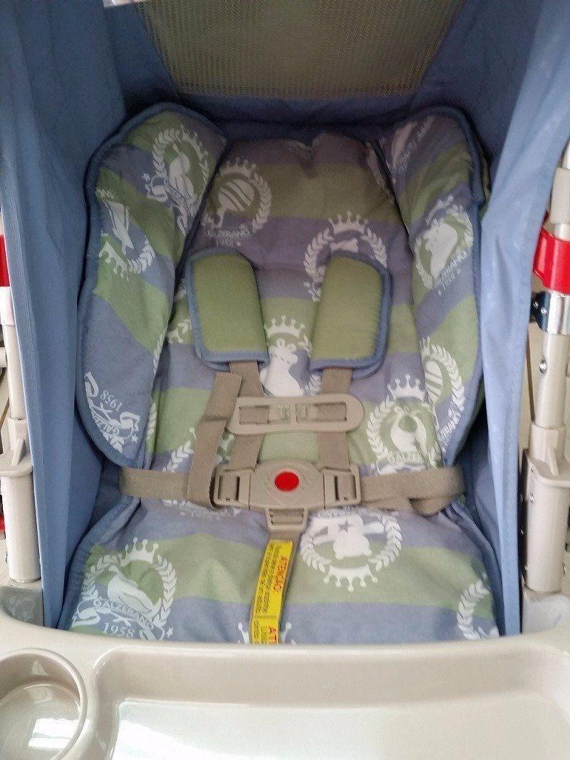 Cinto Segurança Carrinho De Bebê Galzerano Original 5 Pontos