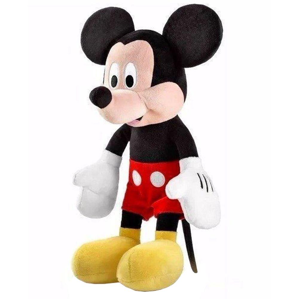 Conjunto Bonecos Pelúcia Pateta e Mickey 33 cm com Som
