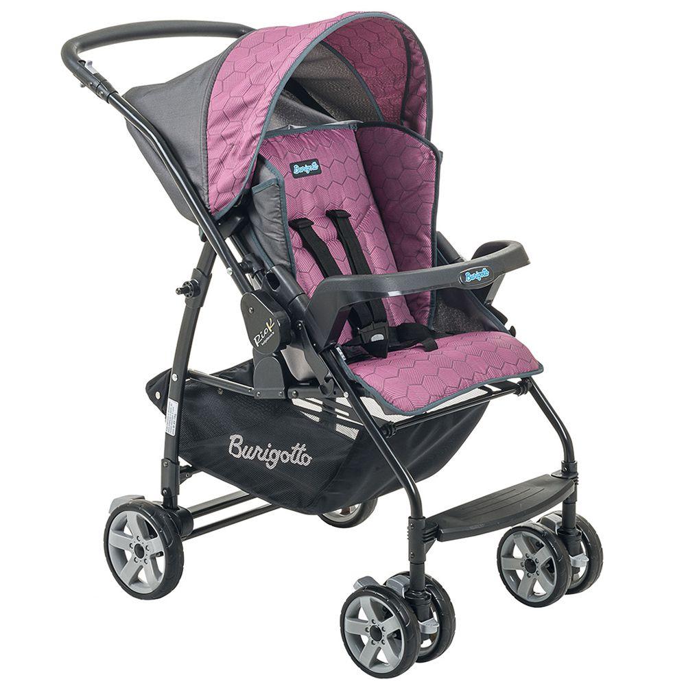 Conjunto Carrinho de Bebê Rio K Reversível Azul + Bebê Conforto Touring SE GEO Rosa