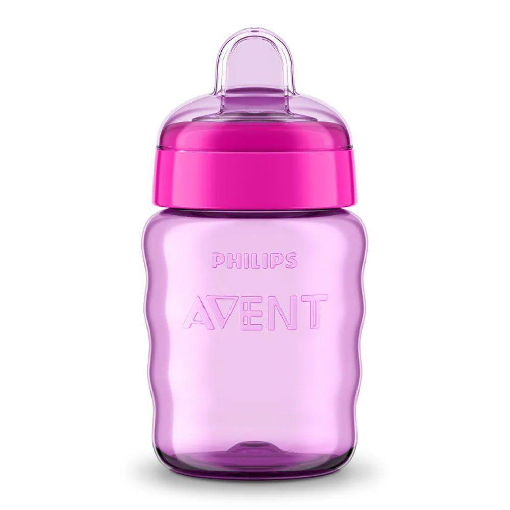 Copo Bebê Easy Sip Com Bico De Silicone 260ml Rosa Philips Avent SCF553/03