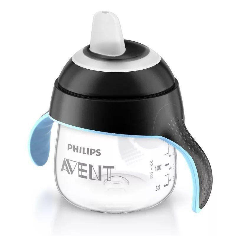 Copo Pinguim 200Ml 6m+ Preto Philips Avent