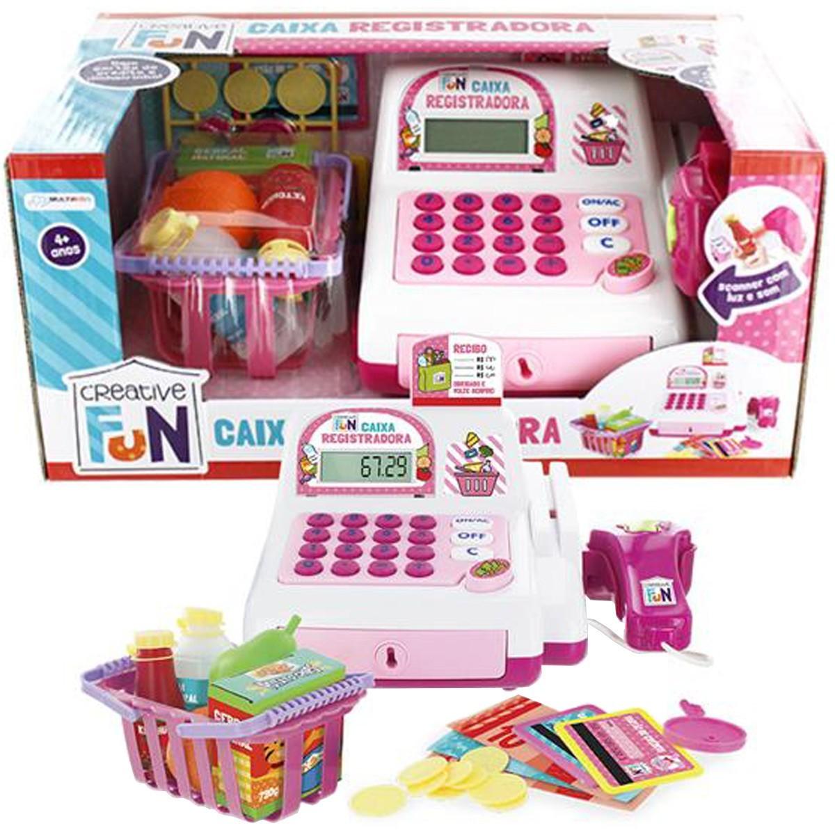 Creative Fun Caixa Registradora Rosa Multikids BR387