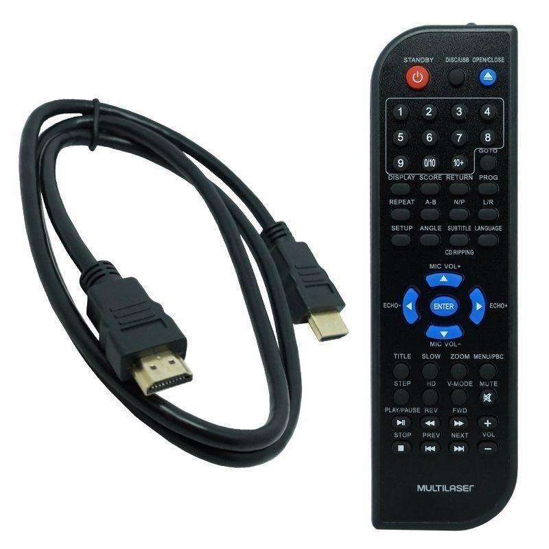 Dvd Player Full Hd Saida Hdmi 5.1 Canais Karaoke Usb Sp193