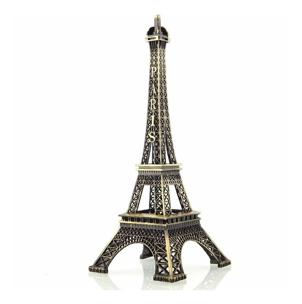 Enfeite Miniatura Torre Eiffel Metal Paris Decoração 22cm
