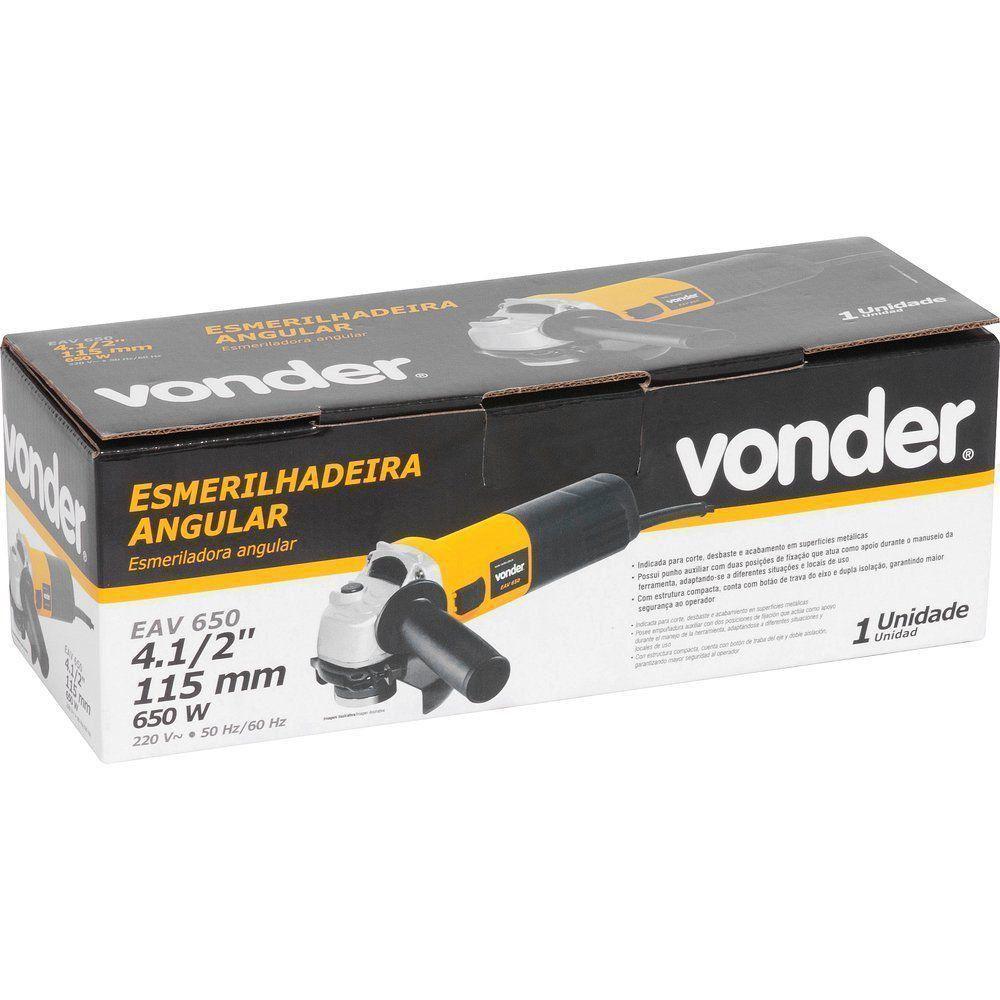 Esmerilhadeira Angular Corte Desgaste 650w 127V Vonder