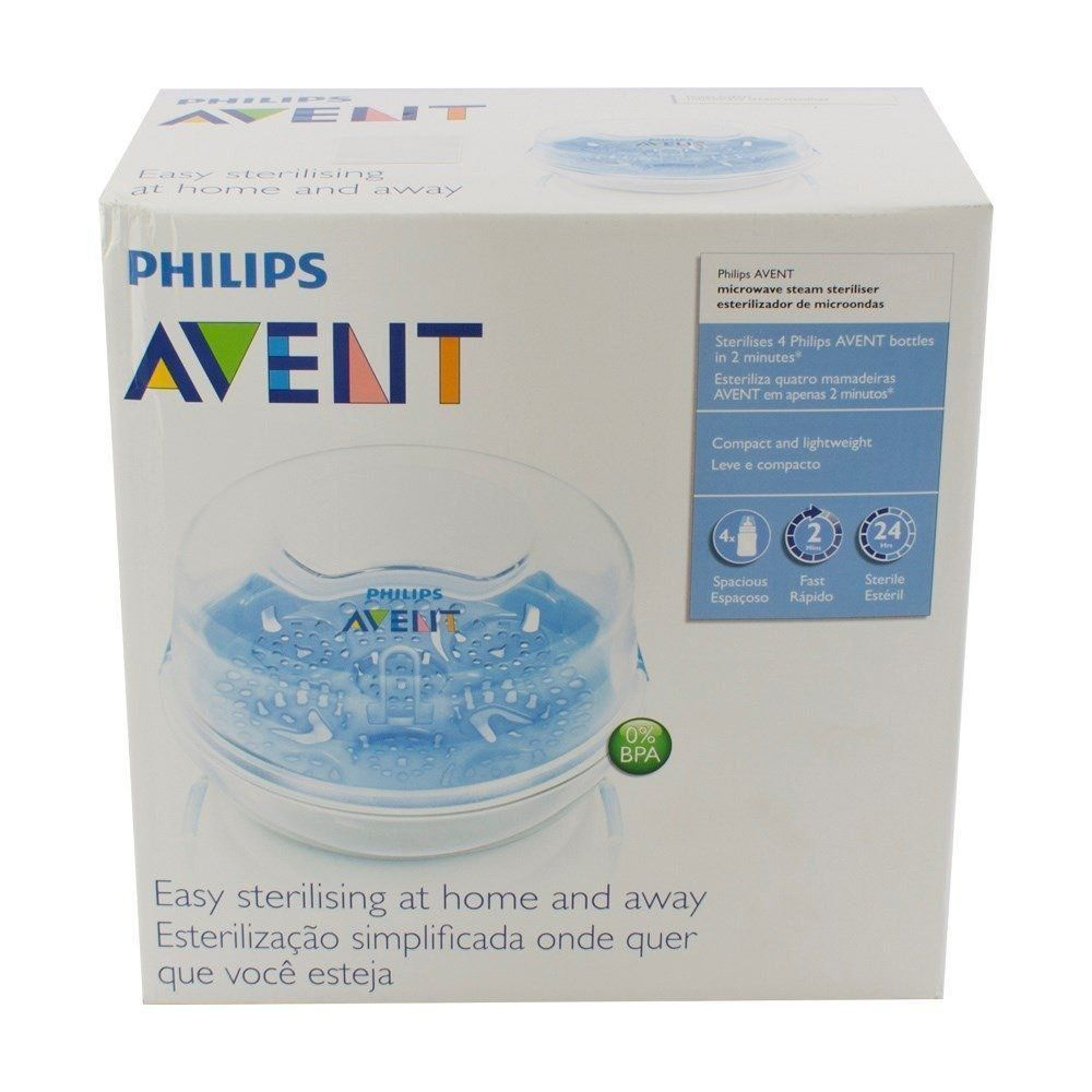 Esterilizador a Vapor em Microondas para Mamadeiras e Chupeda Philips Avent SCF281/02
