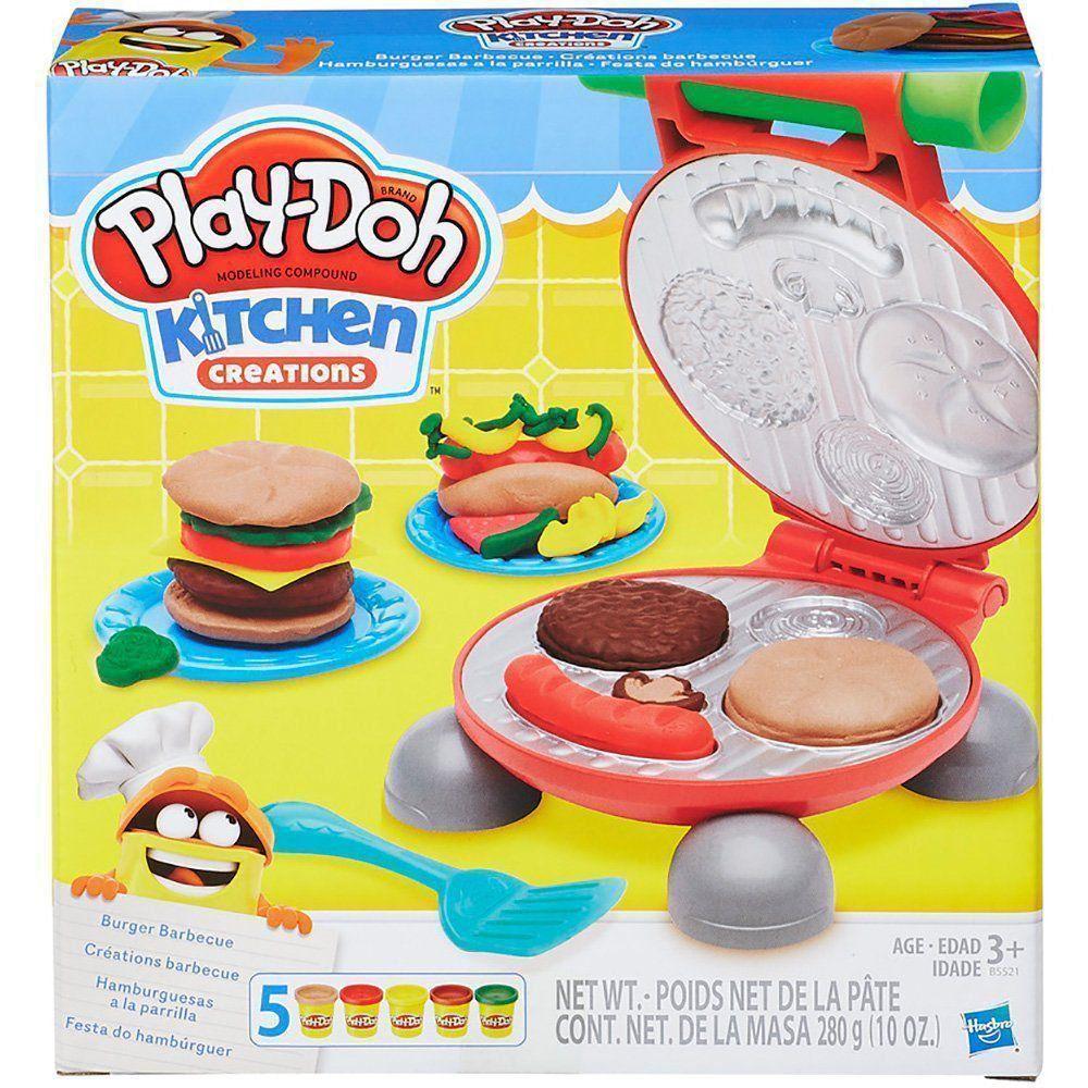 Festa do Hamburguer Play-Doh Massa de Modelar Hasbro BB5521