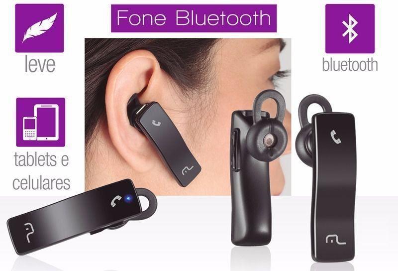 Fone Ouvido Com Bluetooth Multilaser Auricular Au203
