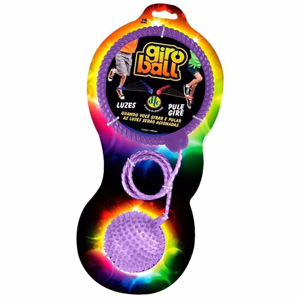 Giroball Brinquedo Com Luzes Pule E Gire Cor Roxo Dtc