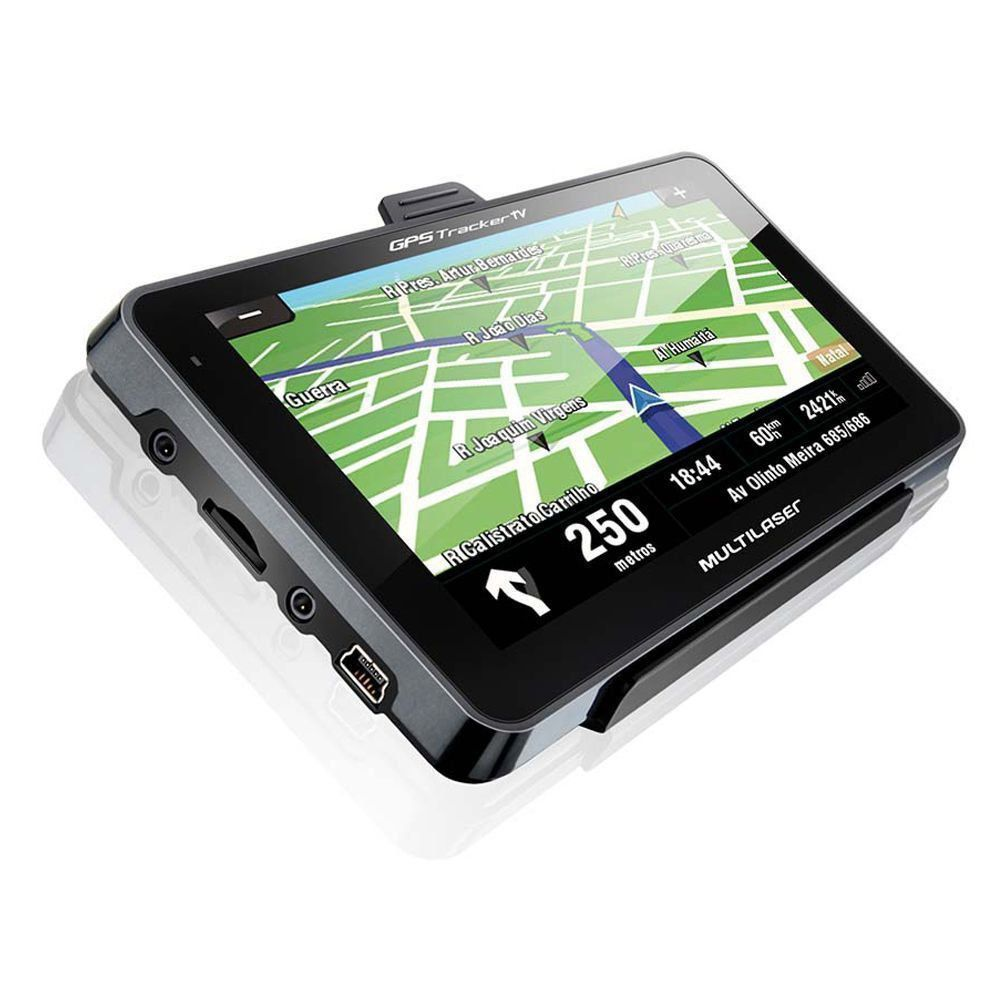 "GPS Multilaser Tracker III GP035 Tela 4.3"" com Câmera de Ré e TV Digital"