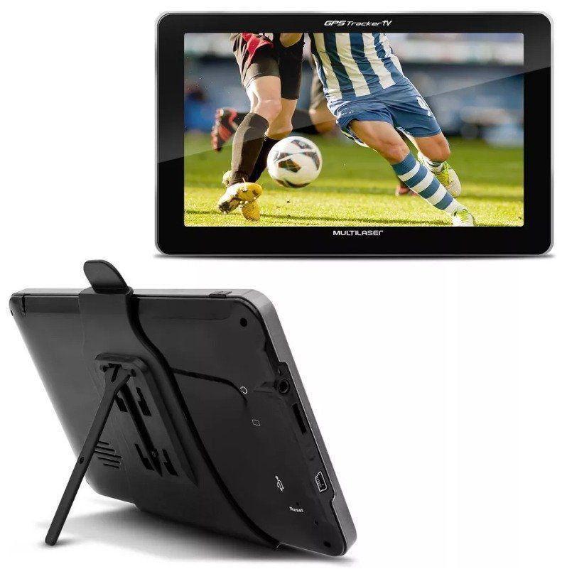 Navegador Gps Automotivo 7 Tv Digital Tracker Multilaser Lcd GP038