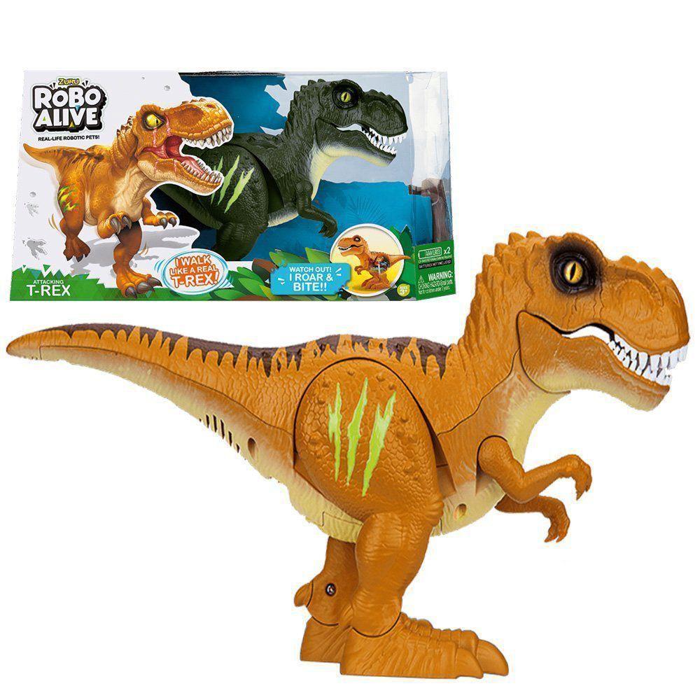 Jurassic World Dinossauro Tiranossauro Rex Anda E Tem Som DTC 4828