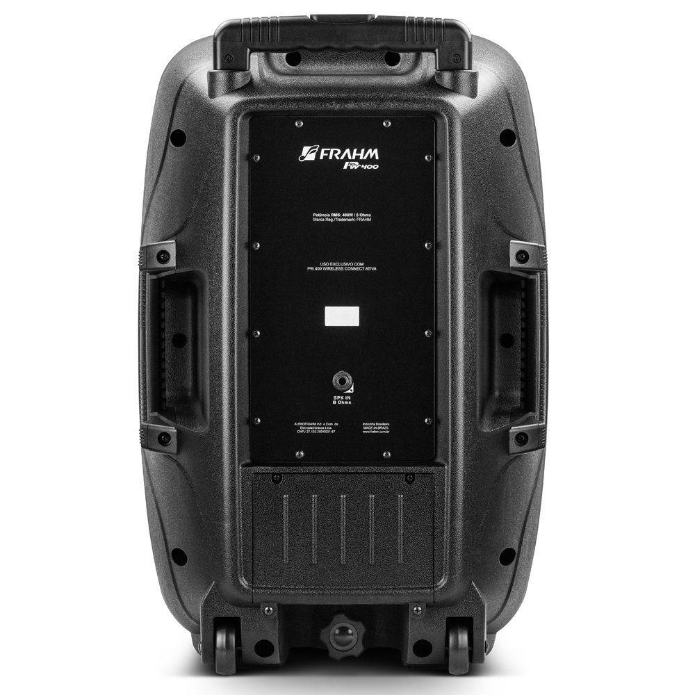 Kit 2 Caixas Pw 400 Wireless Ativa + Passiva Frahm 800WRms