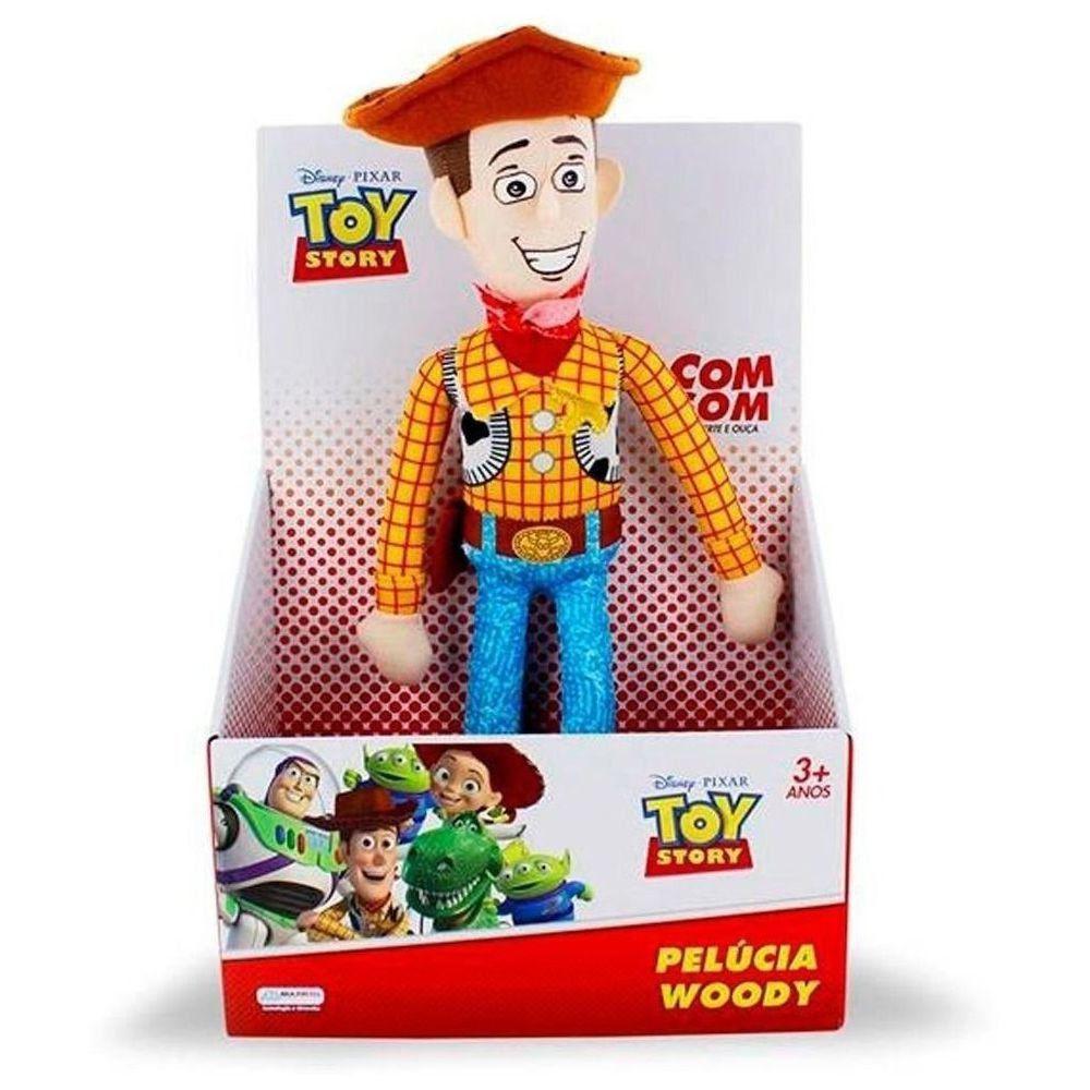 Kit 2 Pelúcia Woody e Jessie Toy Story Com Som