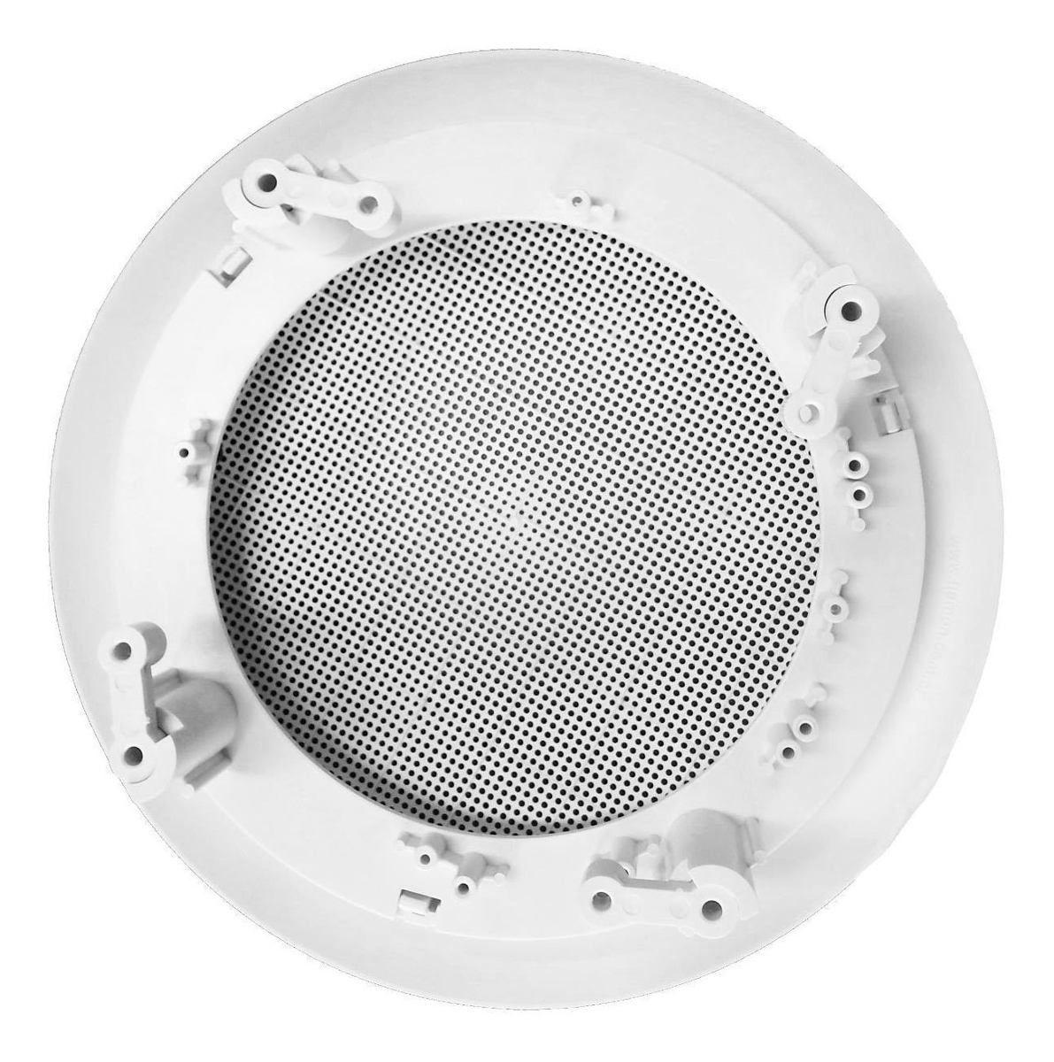 """Kit 4 Arandela Branca Para Alto Falante 6"""" para Embutir em Teto de Gesso"""