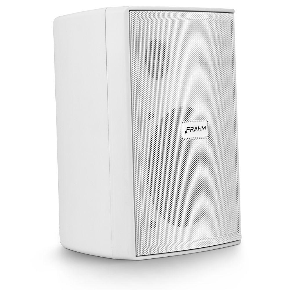 Kit 4 Caixa Som Ambiente 30wrms Branca Ps200 new Com Suporte Frahm