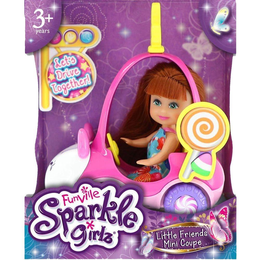 Kit 6 Brinquedos Sparkle Girlz Carro Mini Sparkles DTC 4806