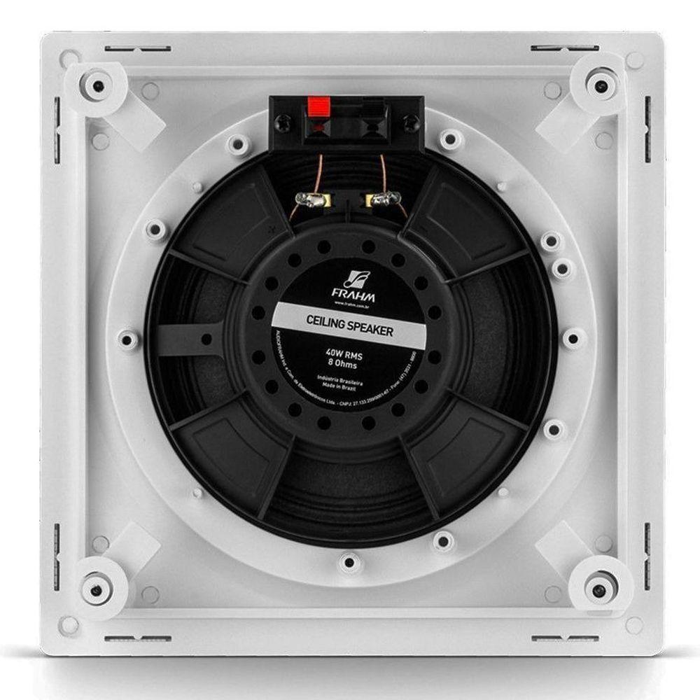 Kit Amplificador Slim 3700 + 8 Arandelas Quadrada 6 Full Range 40w