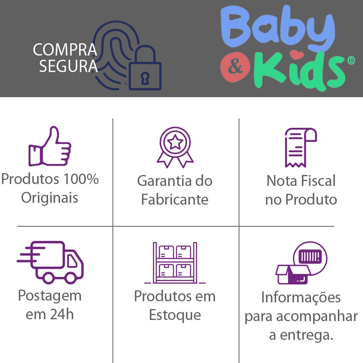 Kit Banheira Banho Bebê Rigída Branca Burigotto Com Suporte e Redutor