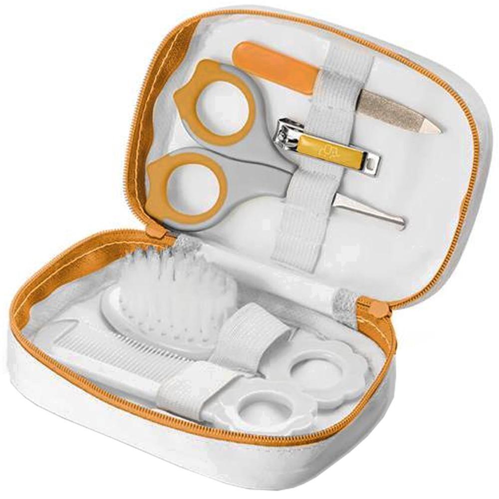 Kit Completo Higiene Tesoura Pente Cortador Bebê Multikids