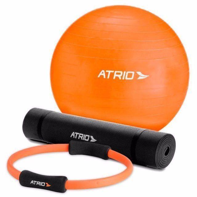 Kit Para Pilates Multilaser Atrio Bola + Anel + Tapete Es126