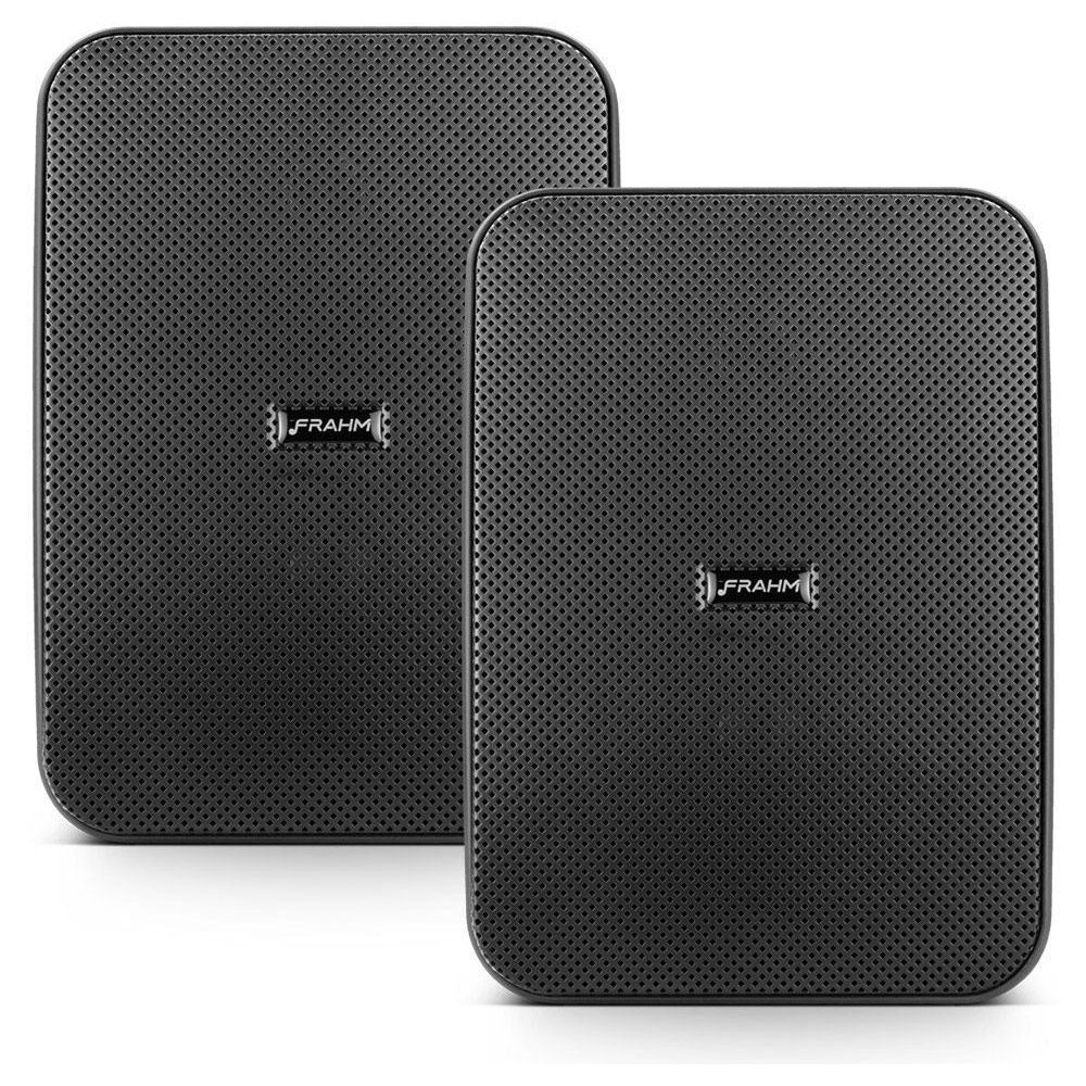 """Kit Receiver Slim 1600App + 2 Caixa Passiva CSL 5"""" Outdoor Preta 160w"""