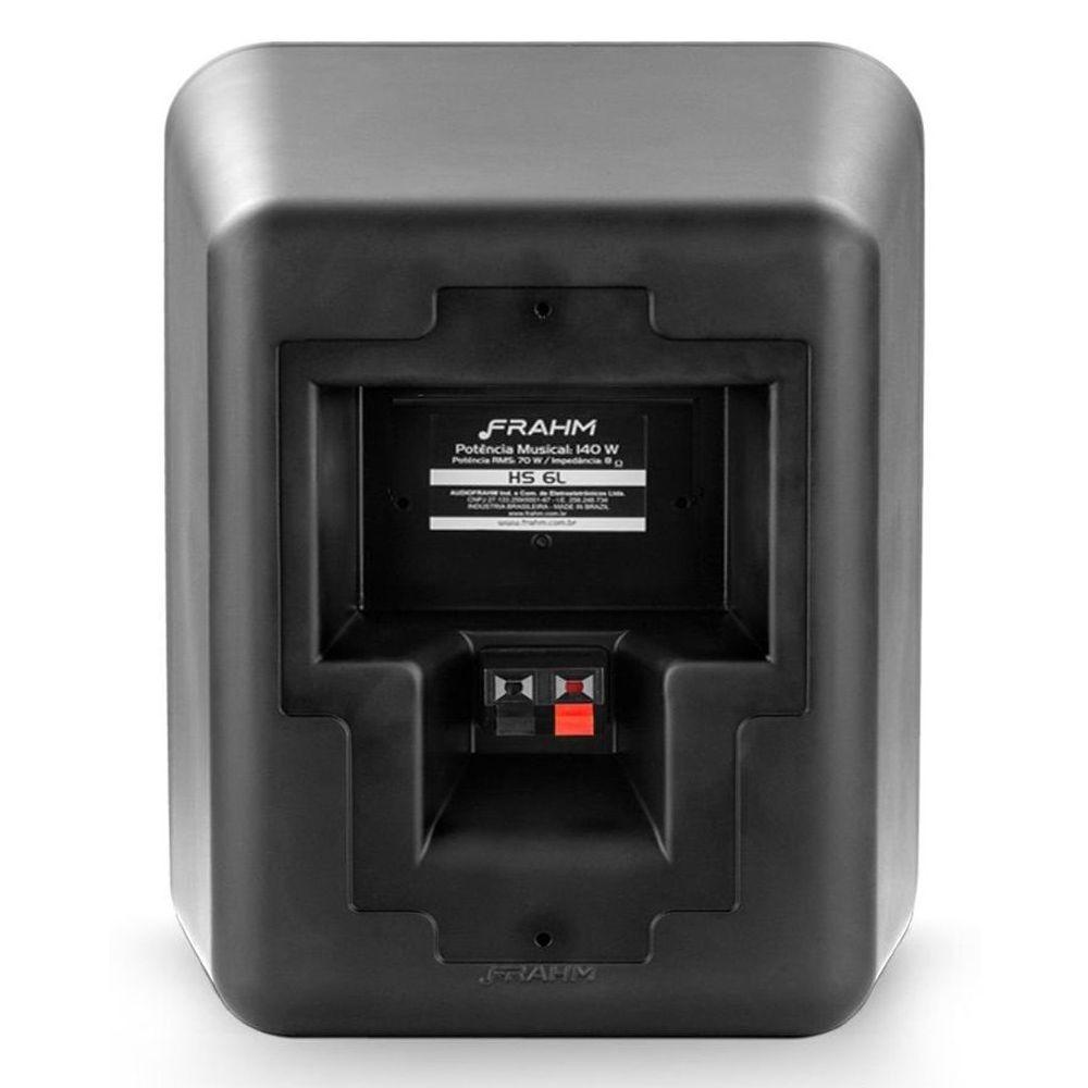 "Kit Receiver Slim 2500App G2 + 2 Caixa Passiva HSL 6"" Preto 140w"