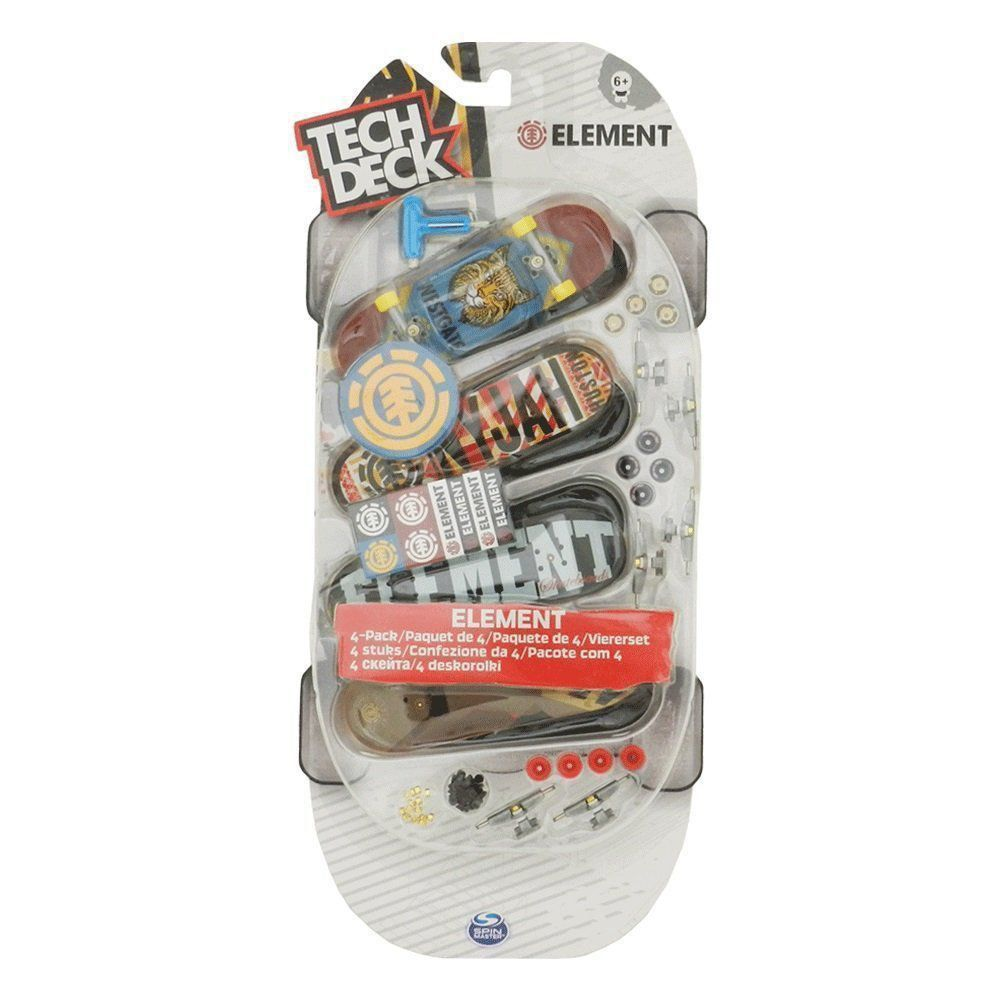 Kit Tech Deck 4 Pack Multipack Skate de Dedo Modelo Variado BR338