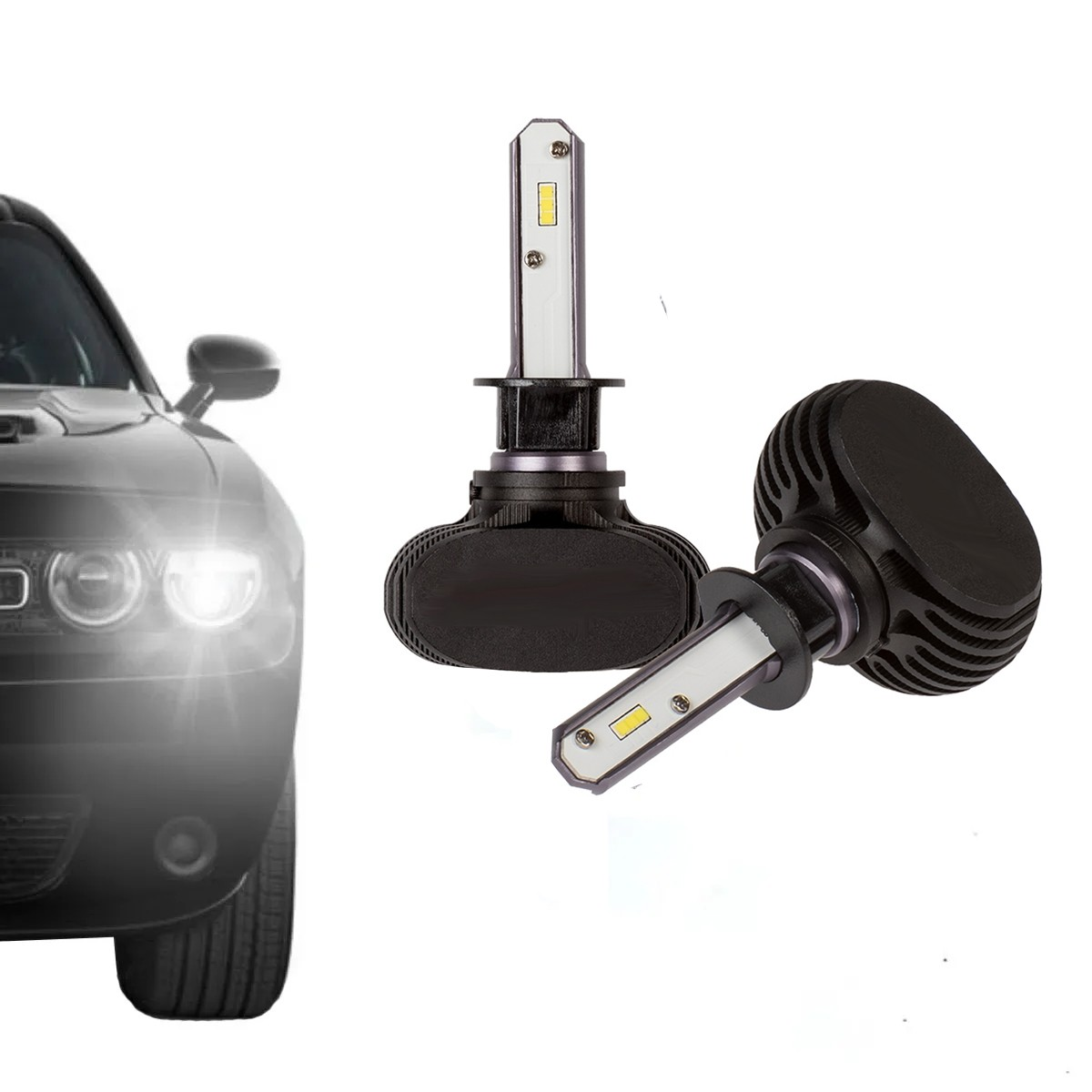 Lampada Led 2D Carro H3 6000K 12V-24V 32W Headlight