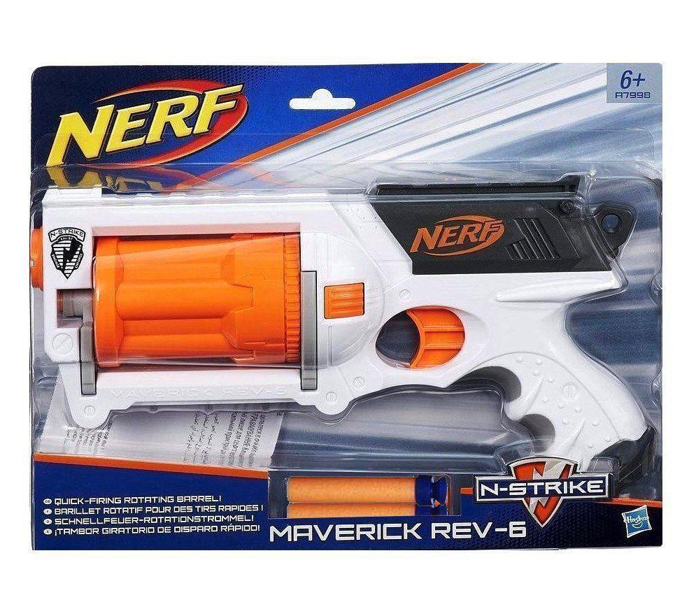 Lançador Dardos Nerf N-Strike Elite Maverick Rev-6 A7998