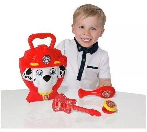 Maleta Infantil Patrulha Canina Kit Musical Do Marshall Dtc 4618