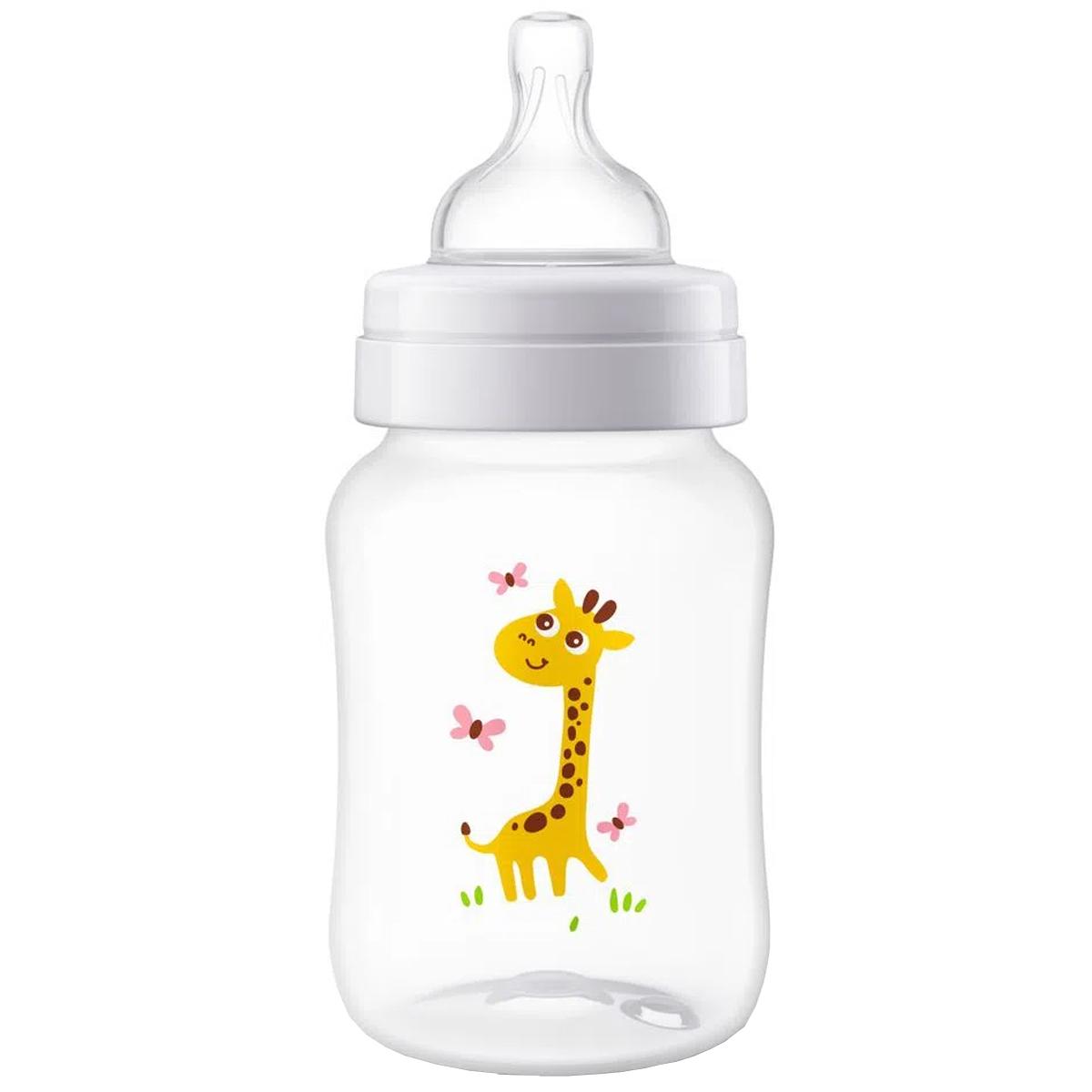 Mamadeira Avent Antivazamento Bebê Anti-colica Tam 2 260ml Philips Classic Girafa