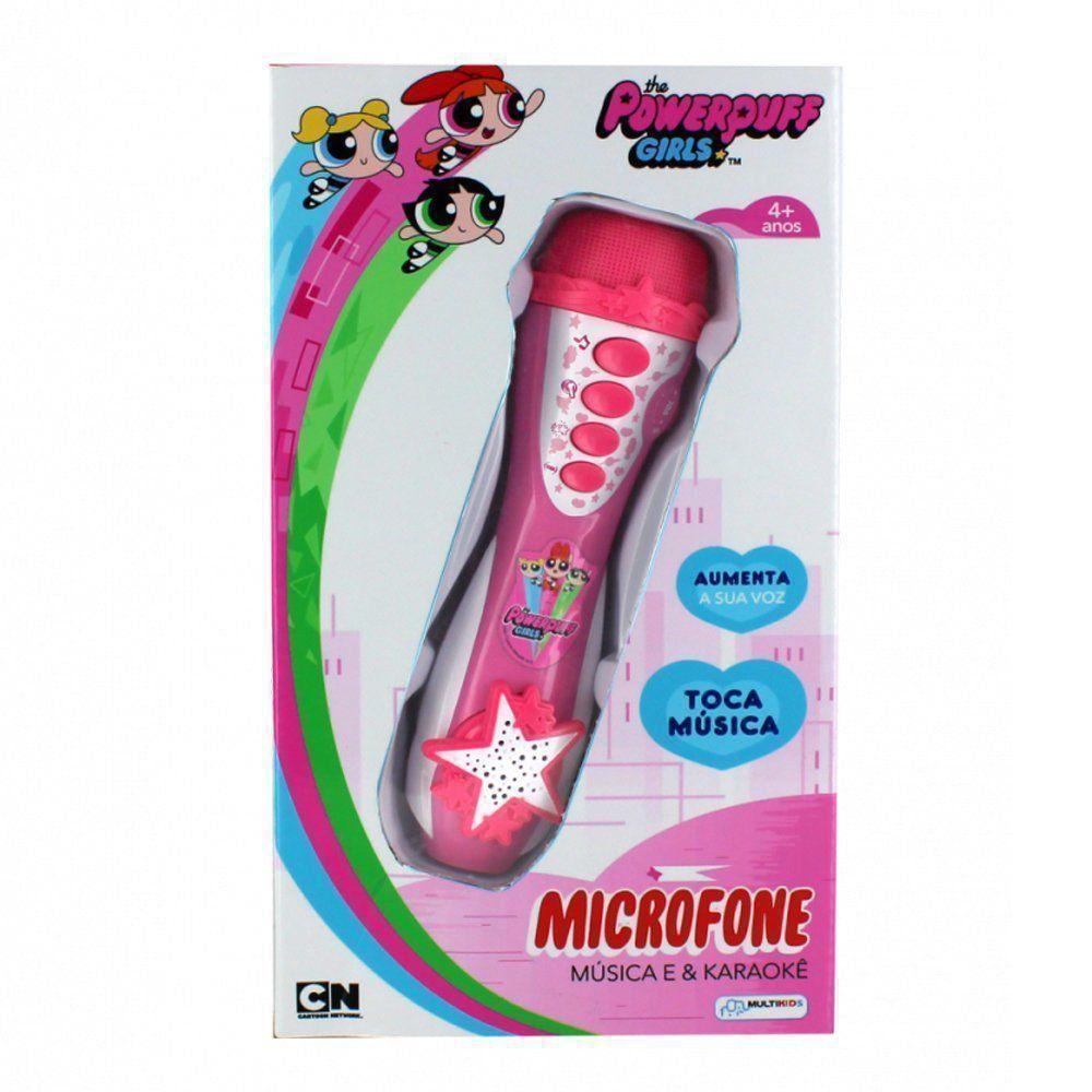 Microfone Infantil Meninas Super Poderosa Multikids BR752
