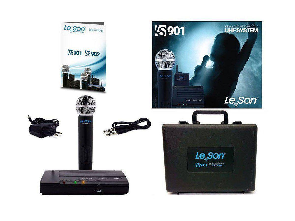 Microfone Sem fio de Mão LS-901 HT UHF LeSon
