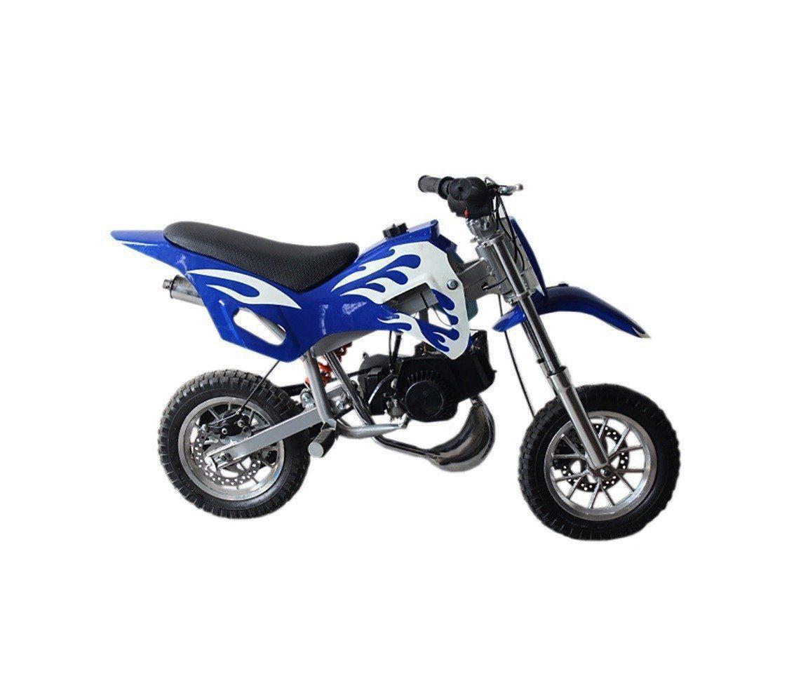 Mini Moto Criança Infantil Cross 49cc 2tempo Gasolina Azul