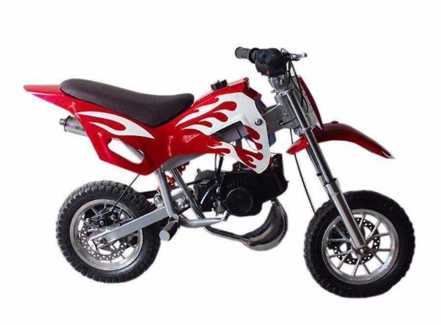 Mini Moto Criança Infantil Cross 49cc 2tempo Gasolina Vermelha