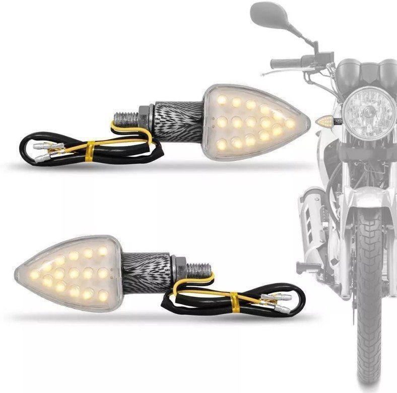 Mini Pisca Seta Led Moto Reptor Carbono Multilaser Universal MT201