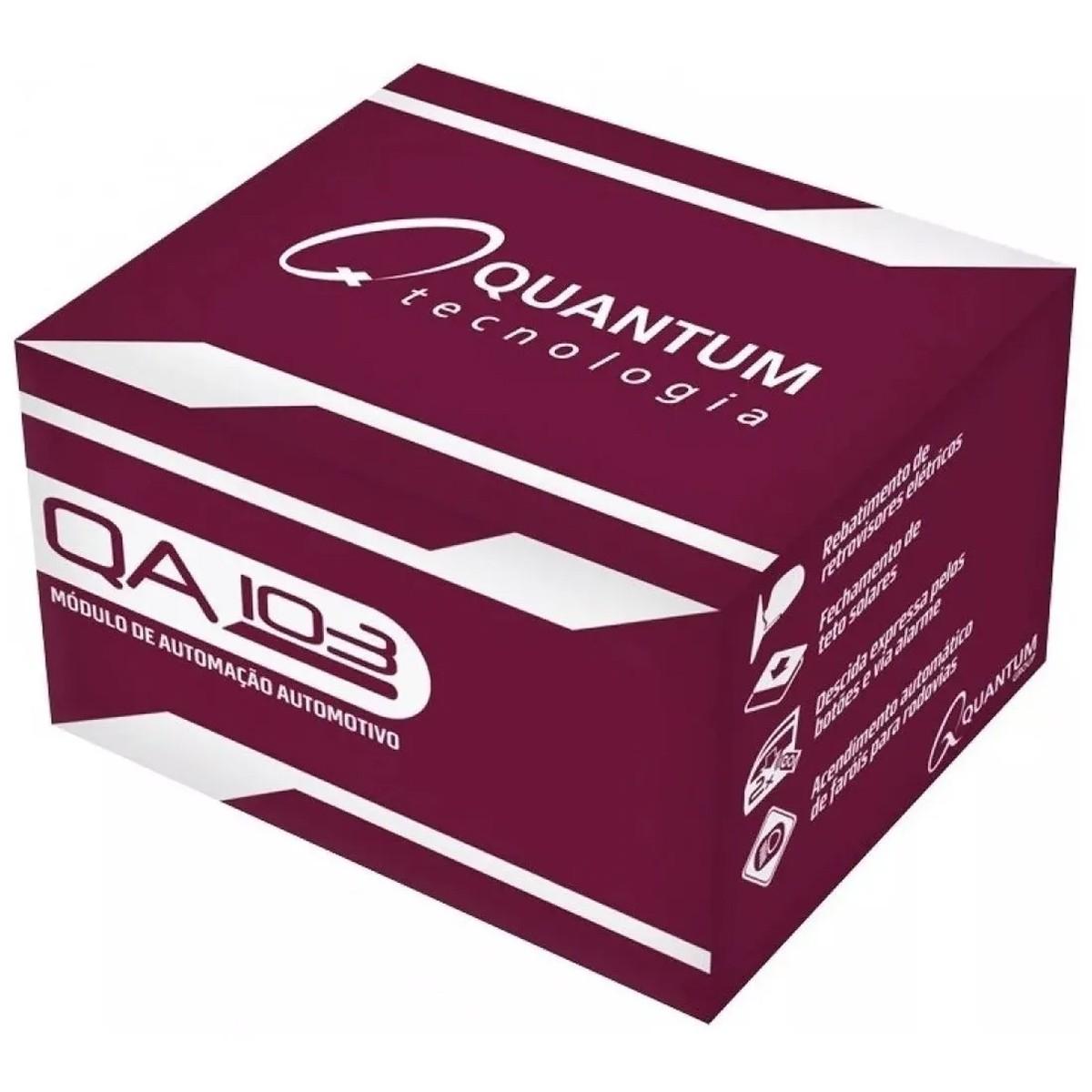Módulo Automotivo Rebatimento Fechamento Retrovisores Teto Descida de Vidro Farois Automaticos Quantum Qa103