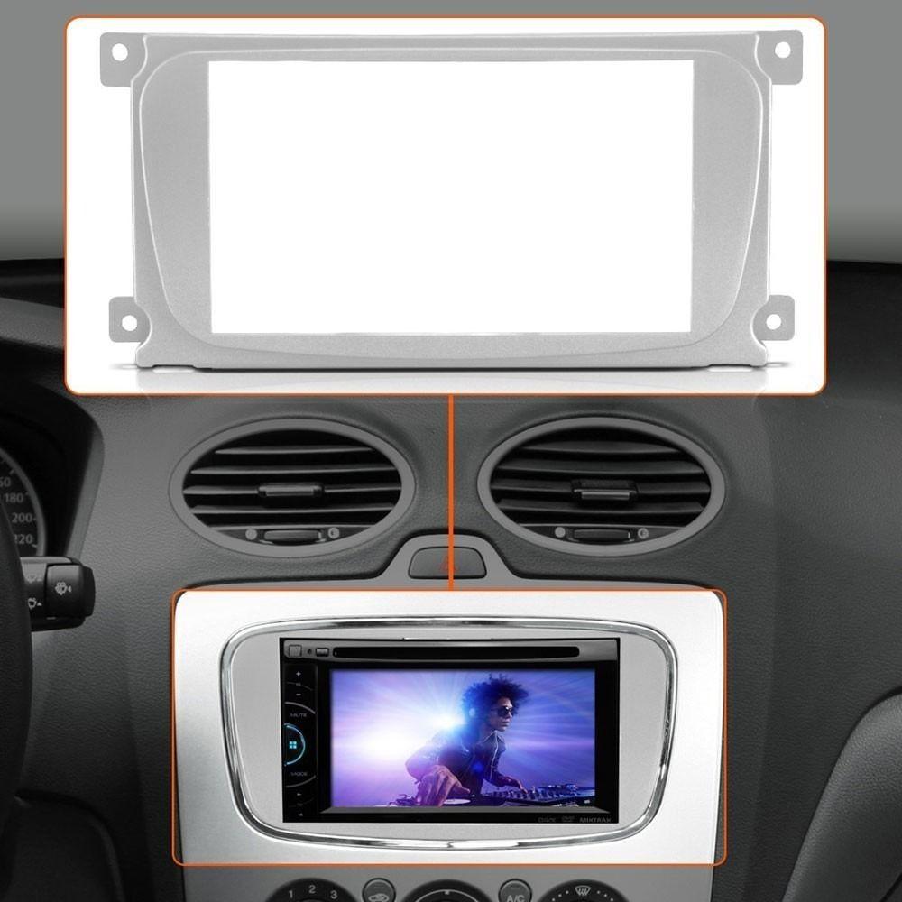 Moldura 2 Din Ford Focus 09/13 Prata Cod:2857 Fiamon