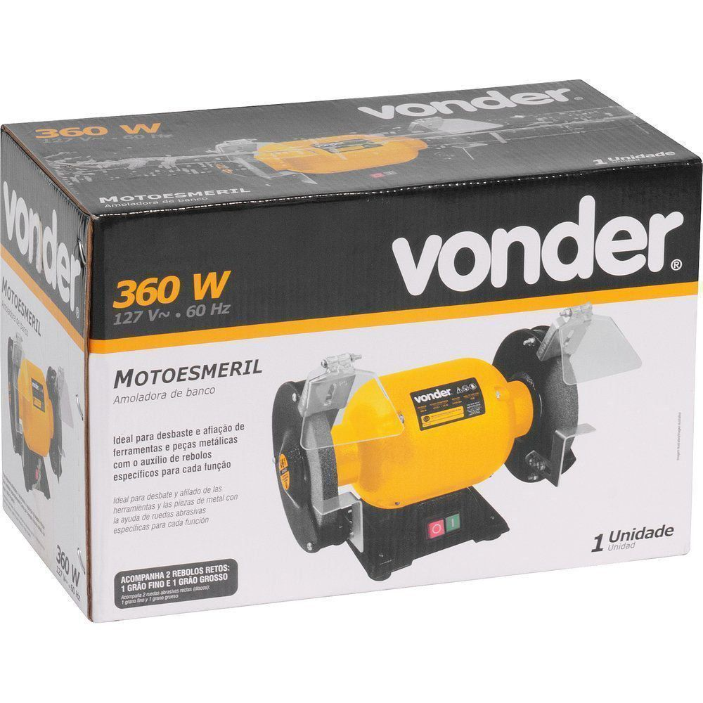 Motoesmeril De Bancada 360w 110v Vonder Profissional