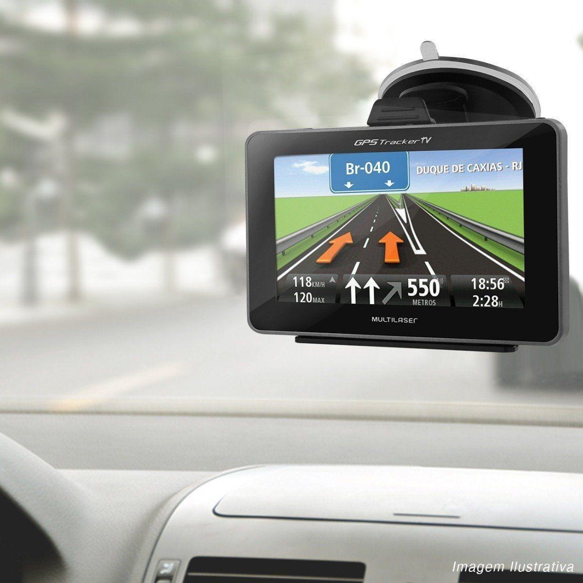 Navegador Gps Multilaser Tracker 4.3 com Tv Fm GP034