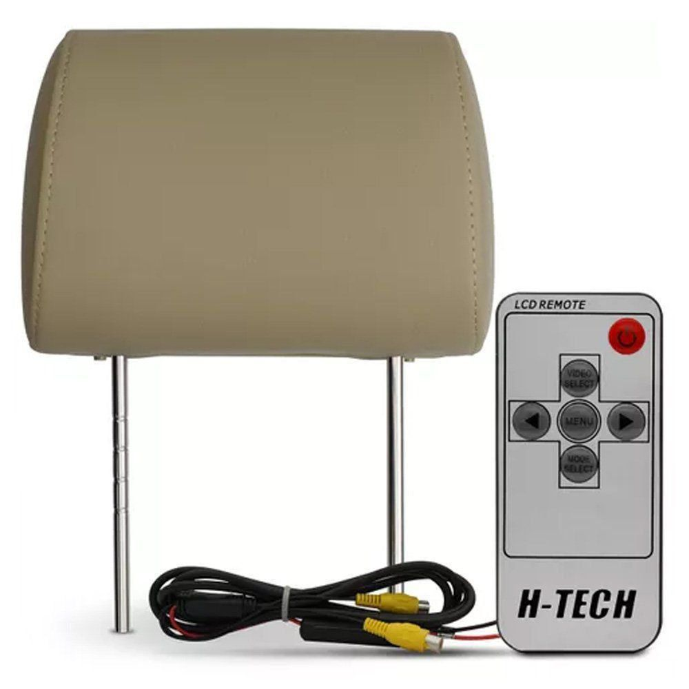 Par Encosto de Cabeça 7 H-Tech Bege Modelo Escravo