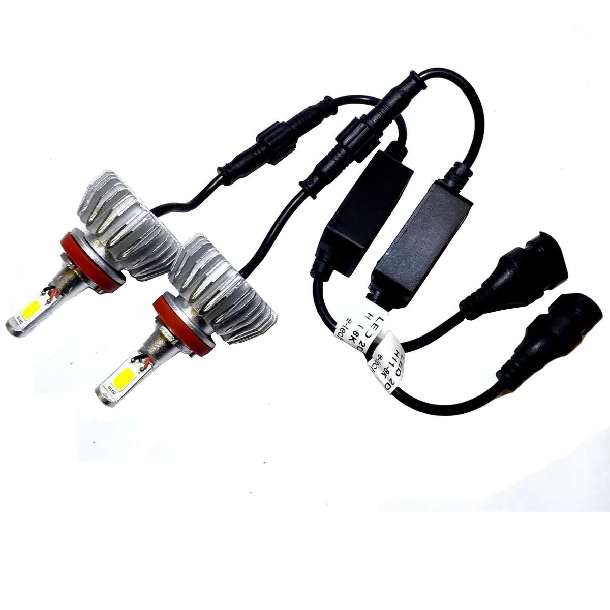 Par Lampadas Led 3D H7 6000K 12~24V 32W H-TECH