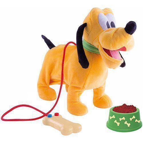 Pelúcia Disney Walking Pluto Com Mecanismo e Som BR230 Multikids